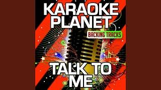 Talk to Me (Karaoke Version With Background Vocals) (Originally Performed By Nick Brewer & Bibi...