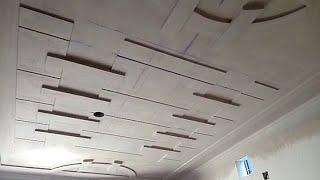 Master bedroom minus plus pop design 2018- video- by RK p.o.p contractor