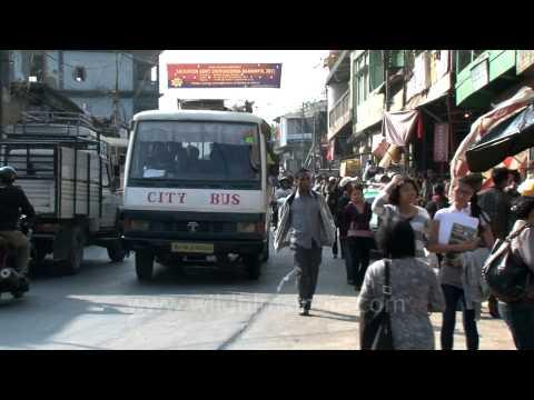 Monday morning rush in Aizawl, Mizoram