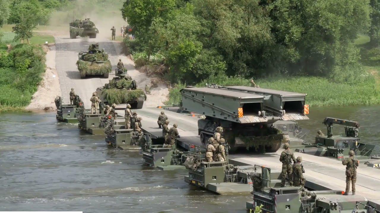 NATO Troops Demonstrate • Bridge Building • Combat Readiness