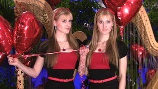 THE BEATLES - All You Need Is Love (Harp Twins) Camille and Kennerly
