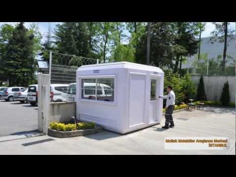 Kabin, Mobo Kabin, Polyester modüler kabinler, Güvenlik bekçi kulübesi - KARMOD