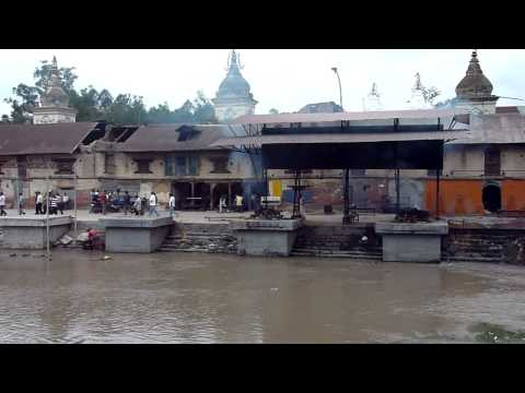 Silently cremation in Pashupatinath at Nepal