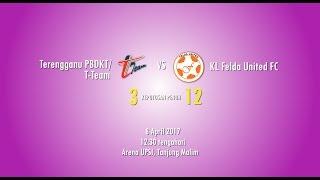 SIRKIT 6 (8/4/2017)VIDEO GOL: (LELAKI) Terengganu PBDKT/T-Team FC 3 - 12 KL Felda United FC