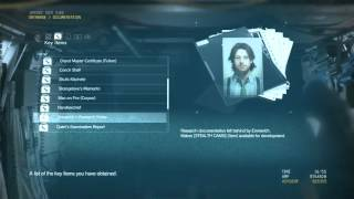 MGS V: TPP All Key Items (Venom PSN Micsnake2)