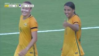 Australia vs. Brazil: Sam Kerr Goal - Aug. 3, 2017