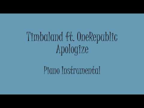 Timbaland Ft Onerepublic Apologize Piano Instrumental Karaoke