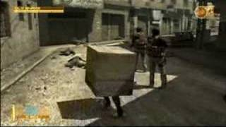 Metal Gear Solid 4/MGS4 - Freakin Funny Enemy Scare!!!!