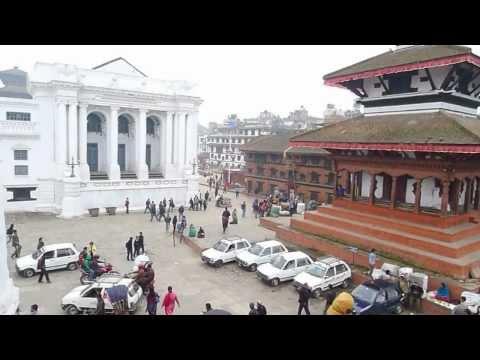 View From MAJU DEVAL NARAYAN TEMPLE Kathmandu Durbar Square Nepal