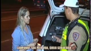 """Polícia Militar lança campanha """"Sou pela vida, dirijo sem bebida"""""""