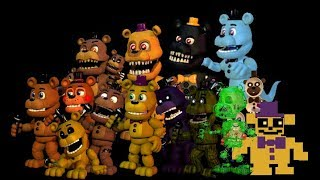 All FNAF World Freddys Sing The FNAF Song