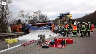 Tödlicher Lkw-Unfall auf der A3