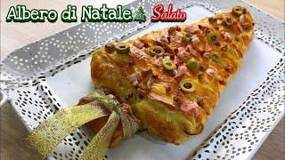 ALBERO DI NATALE SALATO senza stampo SALTED CHRISTMAS TREE 🎄 Tutti a Tavola