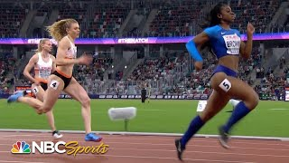 Brown and Jefferson lead USA against Europe in 200m battle | NBC Sports