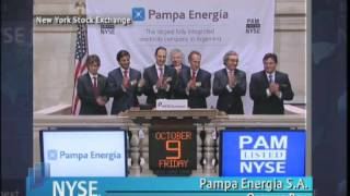 9 October 2009 NYSE Opening Bell Pampa Energia S.A.