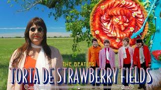 TORTA DE MORANGO DOS BEATLES feat MEU PAIZINHO | TORTA STRAWBERRY FIELDS | RAIZA COSTA