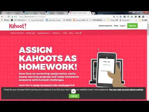 kahoot 網站上註冊帳號 - YouTube
