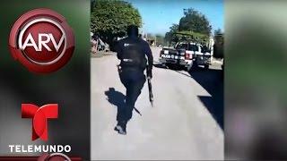 Policías huyen sin enfrentar hombres armados en Sinaloa | Al Rojo Vivo | Telemundo