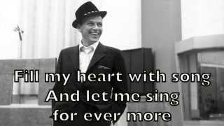 Frank Sinatra - Fly Me to the Moon Karaoke Cover Backing Track + Lyrics Acoustic Instrumental