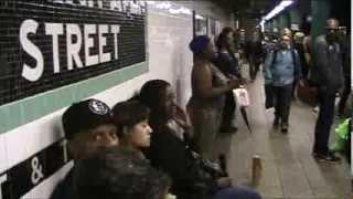 Beyonce - Halo - live in New York City subway - Silvia Jhony