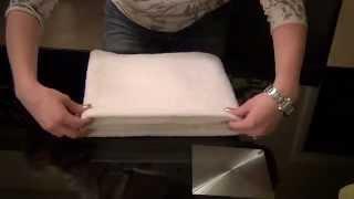 = Relaxing Towel Folding Tutorial/ASMR =