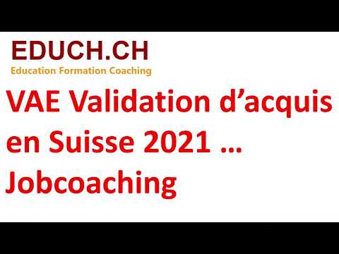 VAE VAlidation d'acquis 2021 Formation Jobcoaching