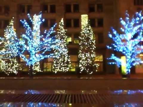 Christmas lights on Independence Square, Kiev