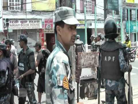 Strike in Kathmandu Nepal