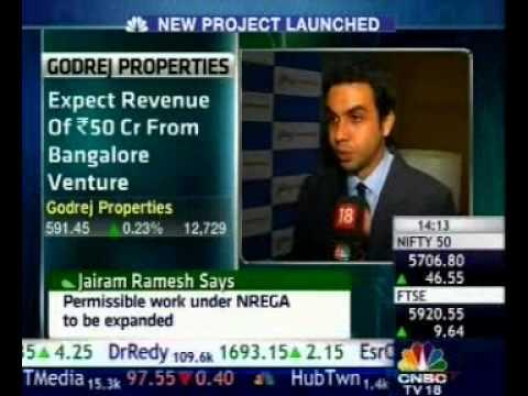 CNBC -- Mr. Pirojsha Godrej Talks about Godrej E-City, GPL's new Launch in Bangalore.