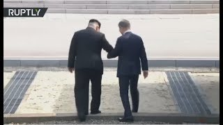 Moon Jae-in & Kim Jong Un arrive at border village for historic summit width=