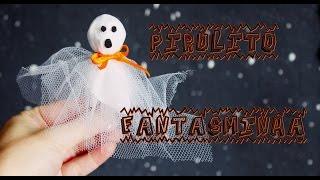 Doces para Halloween - Pirulito Fantasminha