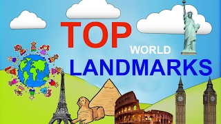 Top 5 famous Landmarks of the world for children. educational video for kids. Sightseeings