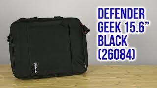 """Распаковка Defender Geek 15.6"""" Black 26084"""