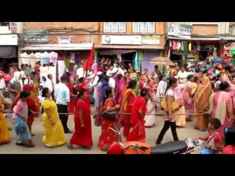 Nepal – Kathmandu – Hare Krishna Parade in the Street