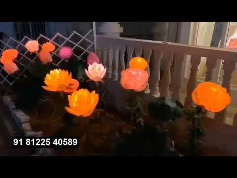 LED Light Flower Decoration | Kinetic Flower Open Close Design India +91 81225 40589 (WA)