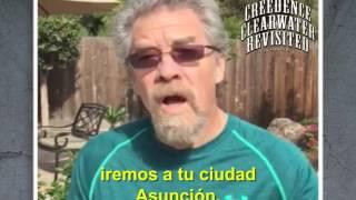 """Doug """"Cosmo"""" Clifford invita al show de Creedence en Asunciòn"""