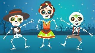CINCO BEBÉS con los Esqueletos Bailongos 💀 Aprende los números con las Calaveras
