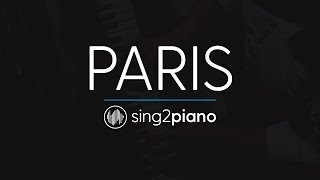 Paris (Piano Karaoke Instrumental) The Chainsmokers
