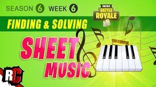 Fortnite WEEK 6 All Sheet Music Locations (Piano Solutions / Season 6 Challenge)