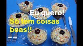 BRIGADEIRO NA TAÇA COM FRUTAS FRESCAS (Fácil e delicioso)