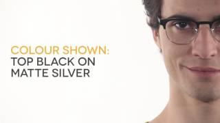 af9ca778543 Ray-Ban RX6317 2832 Eyeglasses in Top Black On Matte Silver ...
