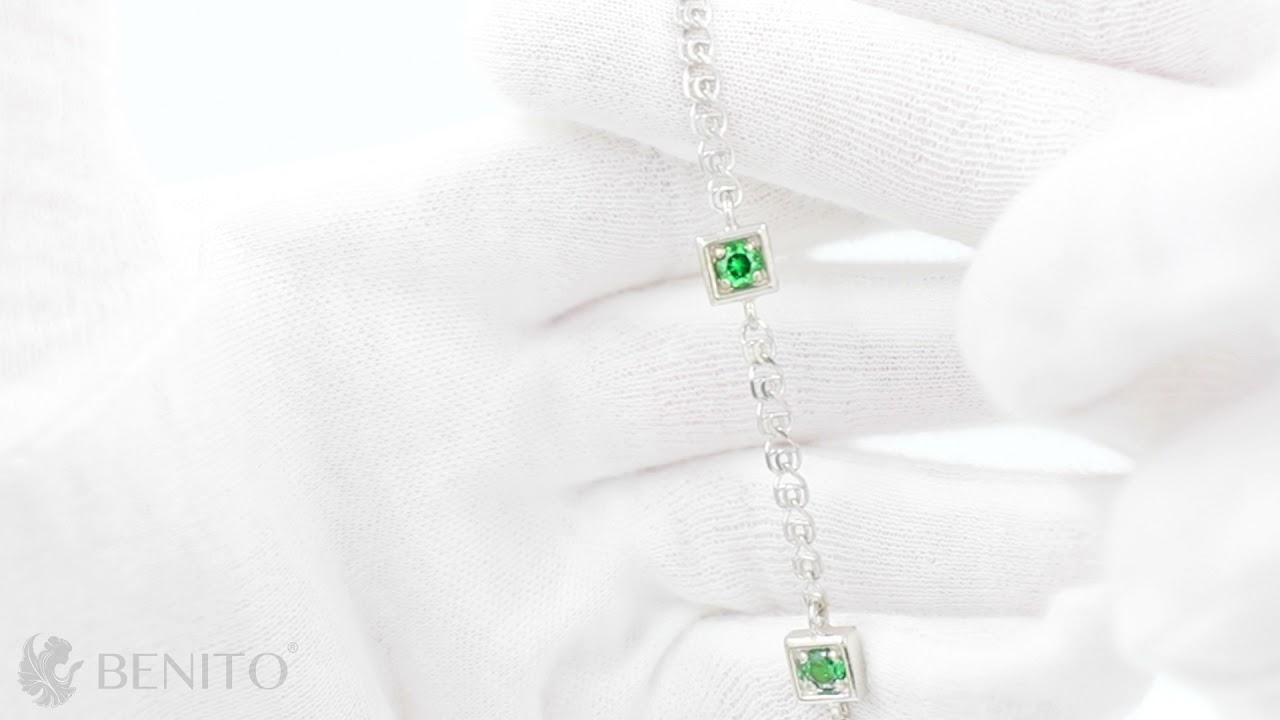 Tina Bracelet Green Zircon Stones