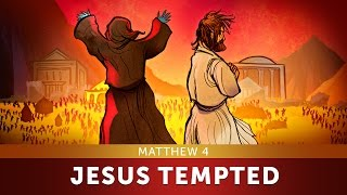 Sunday School Lesson for Kids - Jesus Tempted - Matthew 4 - Bible Teaching Stories for Christianity