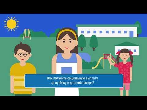 В данном ролике описывается механизм возмещения части стоимости путевки в детский лагерь, приобретённой до 25 мая.