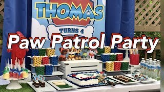Paw Patrol Birthday Party | Paw Patrol Theme Dessert Table