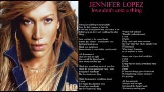 jennifer lopez love don't cost a thing + lyrics