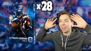 OPENING 28 ULTIMATE LEGEND PACKS! MADDEN 17 PACK OPENING