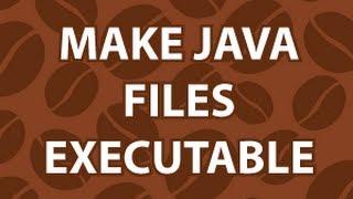 Make Java Executable width=