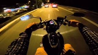 Daelim daystar 250 night ride #2 ( Clarity - zed (cover) )