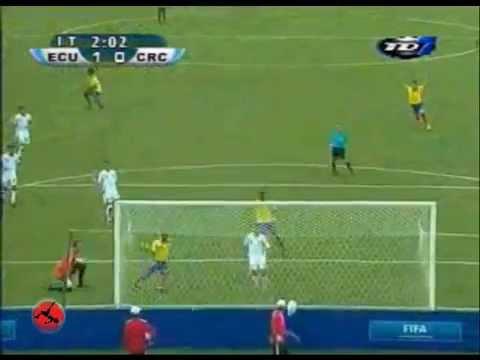 GOLES COSTA RICA 0 – ECUADOR 3.